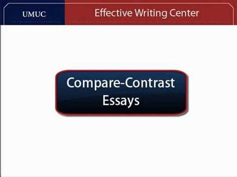 How to construct a compare and contrast thesis
